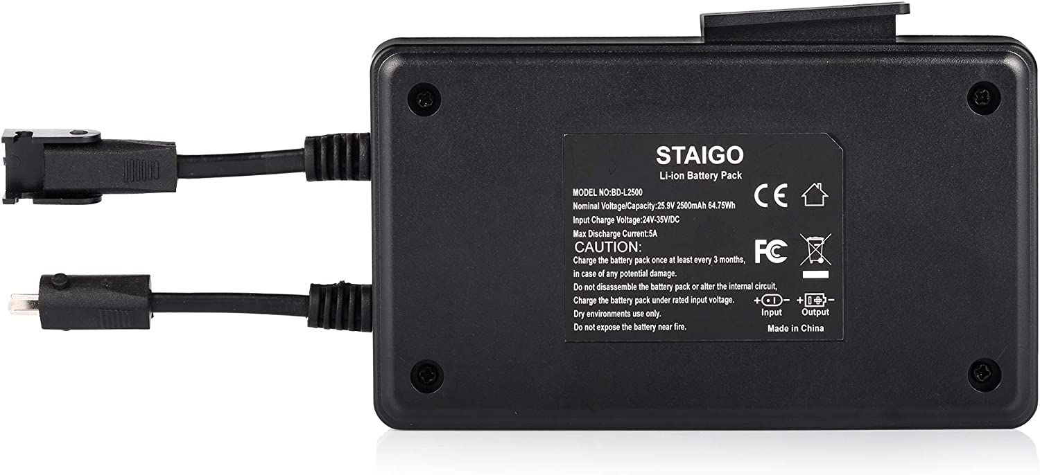 STAIGO Battery for Power Recliner-Power Supply Reclining Sofa-Lift Chair Recliners-Wireless Battery Pack for Electric Motion Furniture for Okin-Limoss-Berkline Med [25.9V 2500mAh]