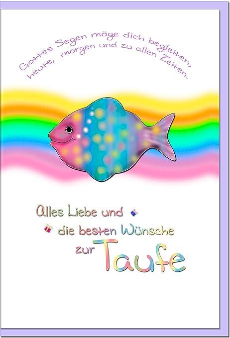 Metalum Karte Zur Taufe Regenbogen 1005009s