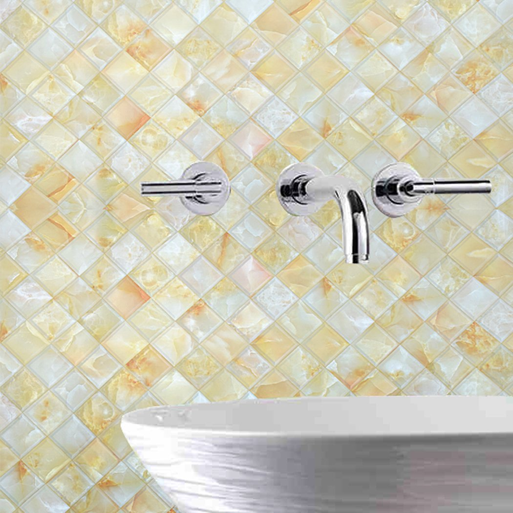 Amazon.com - Faux Gloss Marble Tile Contact Paper Self Adhesive ...