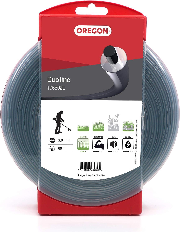 Oregon - Hilo de desbrozadora redondo Duoline, 3,0 mm, donut de 60 m: Amazon.es: Bricolaje y herramientas
