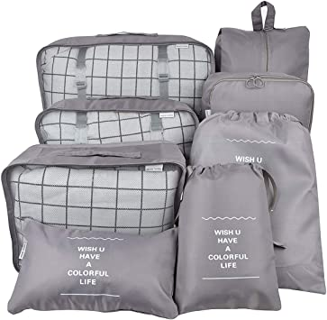 Suitcase Compression Bags Travel Luggage Expandable Mesh Cubes Packing Organizer