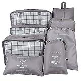Belsmi 8 Set Packing Cubes - Waterproof Mesh