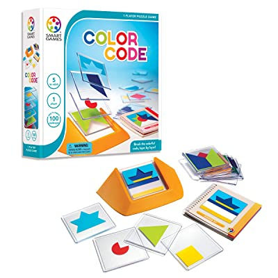 SmartGames Color Code Cognitive Skill-Building Puzzle Game Featuring 100 Challenges for Ages 5 - Adult: Toys & Games