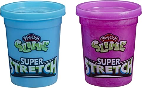 Assorted Colors 1.8-Ounce Cans and HydroGlitz 12 Color Variety Pack for Kids 3 Years and Up Play-Doh Slime: Super Stretch Non-Toxic Includes 2 Tools
