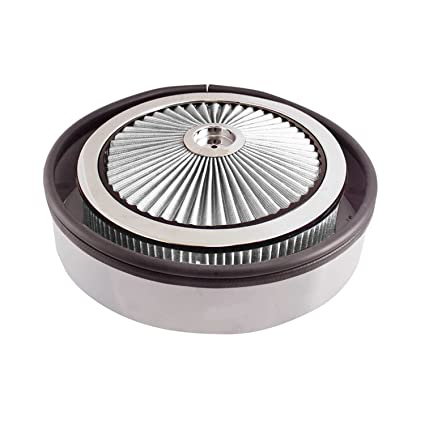 Amazon.com: Spectre Performance 98392 Xtraflow Cowl Hood Round Air Cleaner with White hpR Filter: Automotive
