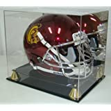 Football Full Size Pro Helmet Display Case with Mirrored Back
