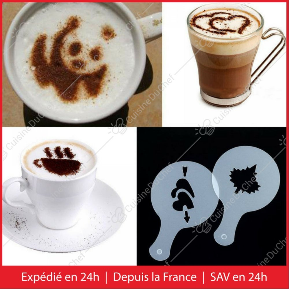 ideal para capuchino, café, pastel, cupcake, Tiramisu   Kit icono reutilizable   Idea creativa: Amazon.es: Hogar