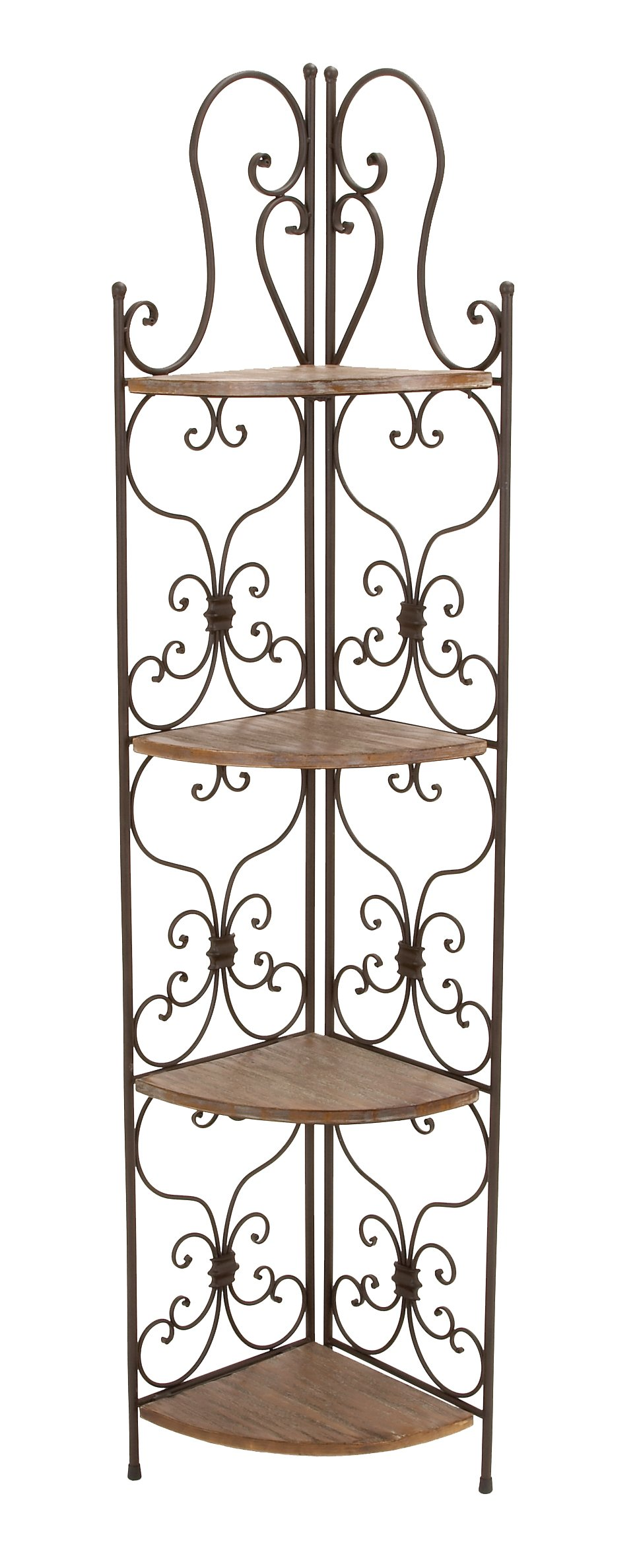 Deco 79 69873 Metal Wood Corner Rack, 18 by 66-Inch