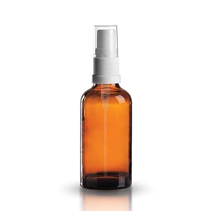 10 x vial de vidrio ámbar 50 ml/botella con pulverizador de bomba/pulverizador