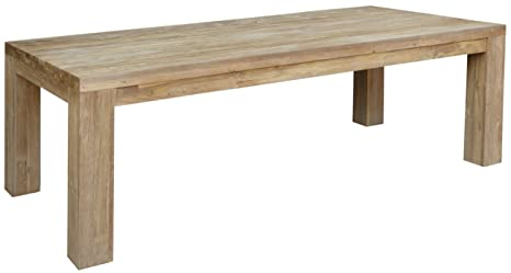 Amazon.com: Recycled Teak Wood Marbella Dining Table, 102 ...