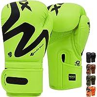RDX Bokshandschoenen voor Bokstraining en Muay Thai, ConvEX Skin Lederen Handschoenen voor Kickboksen, Sparring…