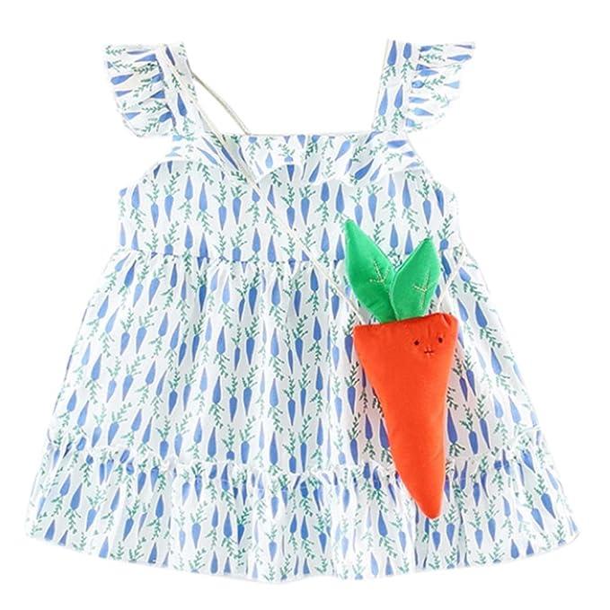 Vestidos Cortos Para Niñas, Niños Para Niños Bebés Sin Mangas Para Niñas Vestidos