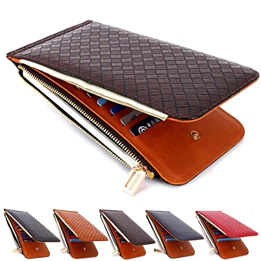 d4d1632156d7 Laynos Mens Wallet RFID Blocking Bifold Multi Card Case Wallet with Zipper  Pocket Travel Purse