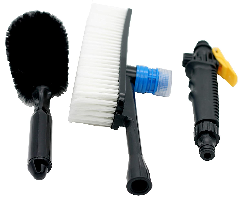 Universal 1pcs Auto PP Exterior Retractable Long Handle Water Flow Switch Foam Bottle Cleaning Brush Car Wash Equipment Hot sale xj