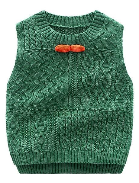adebe23da Amazon.com  Abolai Unisex Baby Boys Girls Knit Sweater Vest Pullover ...