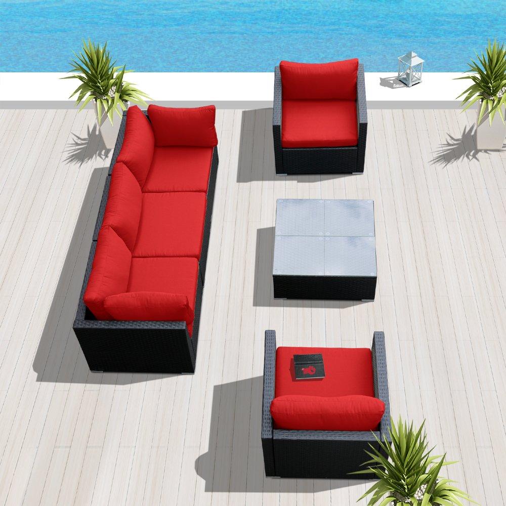 Amazon.com: modenzi v6-u Seccional Muebles de jardín al aire ...