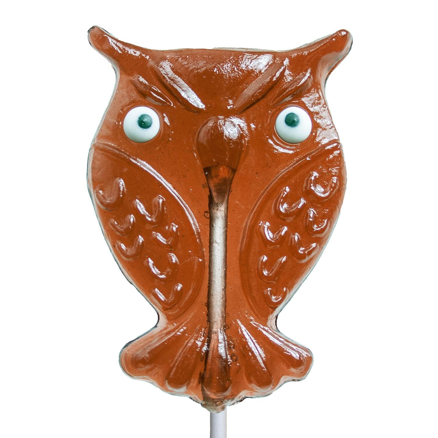 Maple Owl Hard Candy Lollipop (24 Count) by Melville Candy