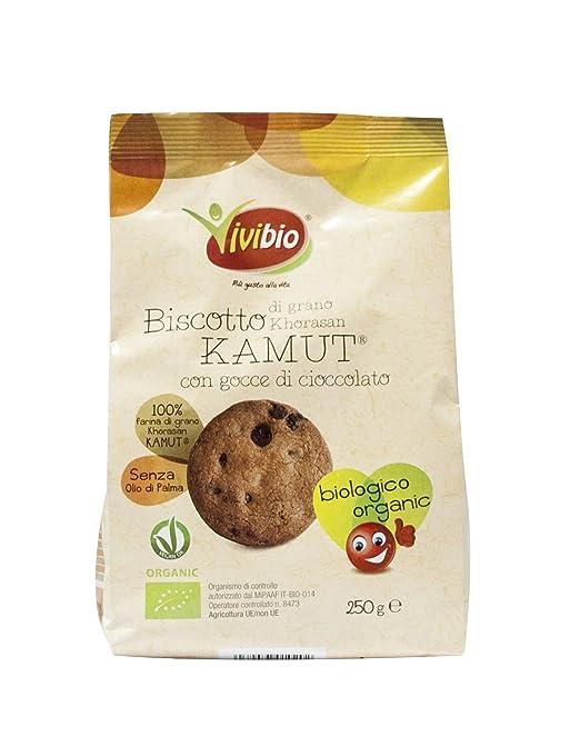 3 opinioni per Vivibio Biscotto di Grano Khorasan Kamut con Gocce di Cioccolato- 250 gr-