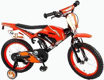 Volare Motobike - Bicicleta Infantil (Ruedas de Apoyo premontadas ...