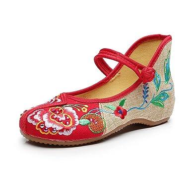 Lazutom - Zapatillas para mujer, color rojo, talla 37 EU