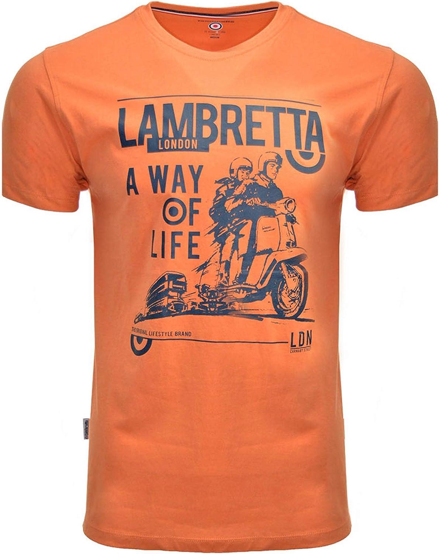 Lambretta - Camisetas para hombre, diseño casual con texto en inglés