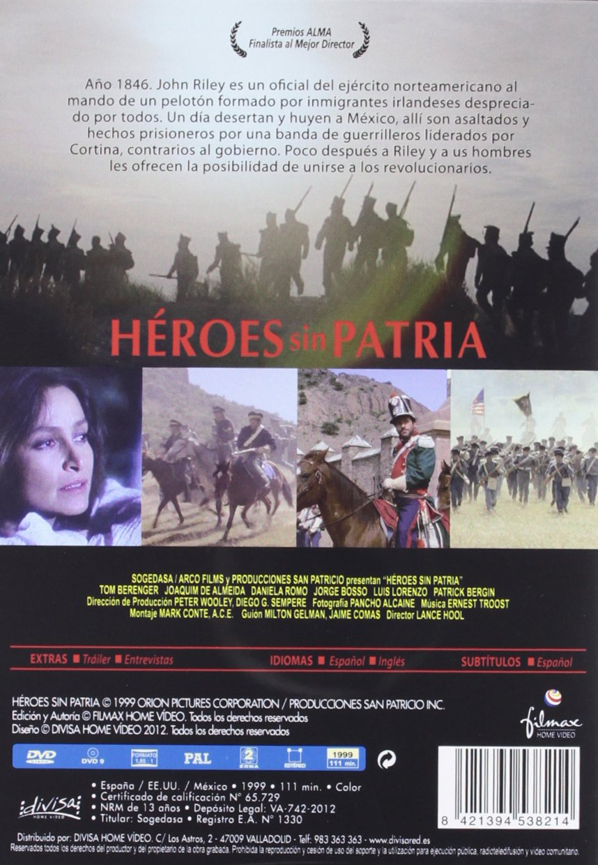 Amazon.com: Héroes Sin Patria (Import Movie) (European Format - Zone 2): Movies & TV