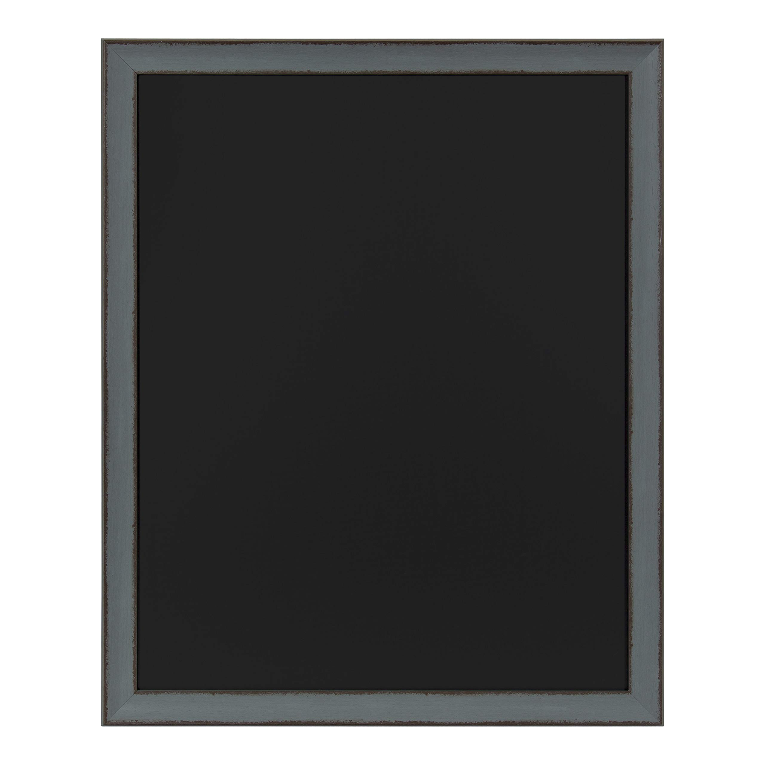 Kate and Laurel Kenwick Framed Magnetic Chalkboard, 27x33, Gray Green by Kate and Laurel