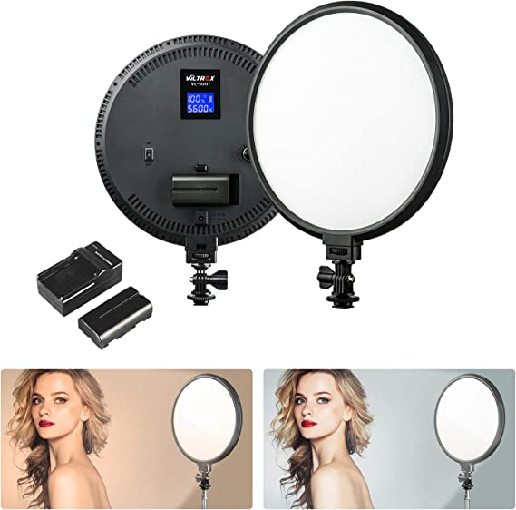 Wedding Ceremony Video Fill Light 104 Beads Stepless Dimmable 3200-5600K Color Temperature 736 lm On-Camera LED Studio Photography Lamp Panel for Portrait Shooting