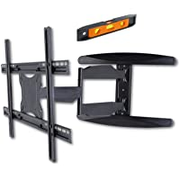 "40-65"" Ultra Slim Full Motion Single Arm XL TV Wall Mount Bracket Max 30kgs"