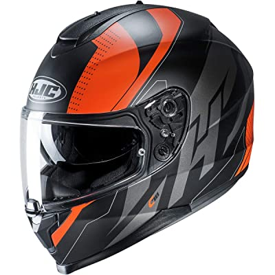 HJC C70 Helmet - Boltas (X-Small) (Orange/Black): Automotive