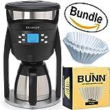Behmor Brazen Plus Temperature Control Coffee Maker Brew System & BUNN BCF100-B 100-Count Basket Filter (Bundle)