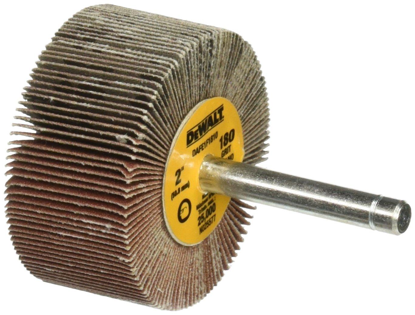 DEWALT DAFE1F1810 2-Inch by 1-Inch by 1/4-Inch HP 180g Flap Wheel