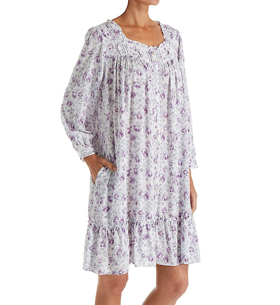 Eileen West Lilac Roses Short Button Front Coat (5119816) S/Lilac Floral