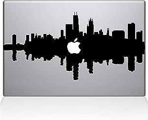 "The Decal Guru Chicago City Skyline Decal Vinyl Sticker, 13"" MacBook Pro (2015 & Older Models), Black (2327-MAC-13P-BLA)"