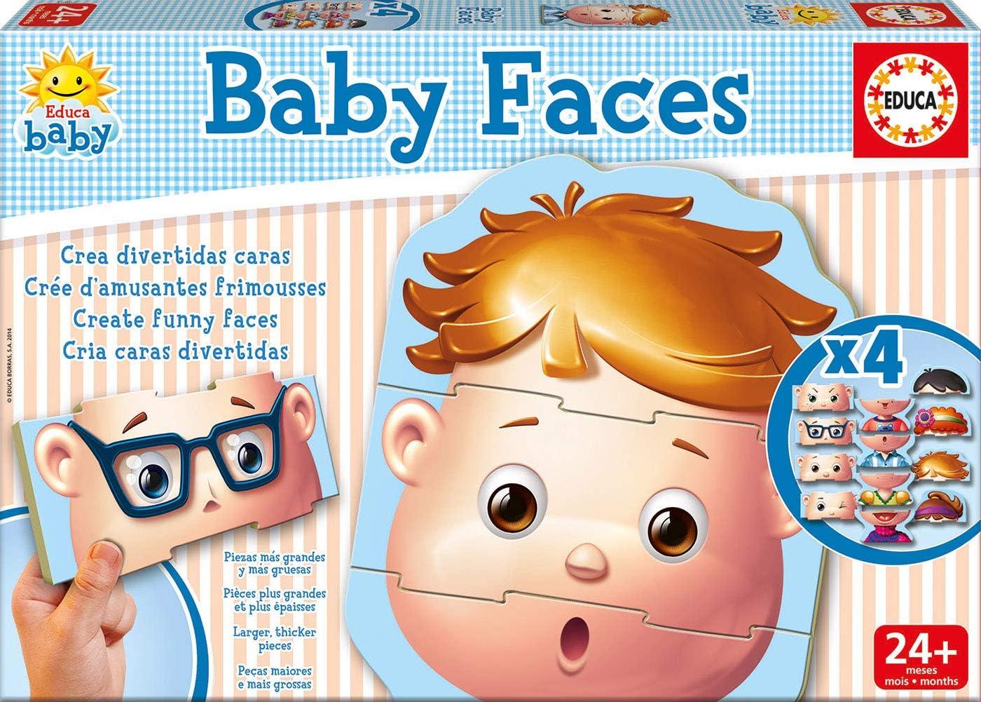 Educa Borrás - Baby Faces, Juego de Mesa (15864): Amazon.es: Juguetes y juegos