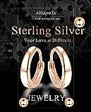 Adramata 925 terling Silver Cuff Hoop Earrings