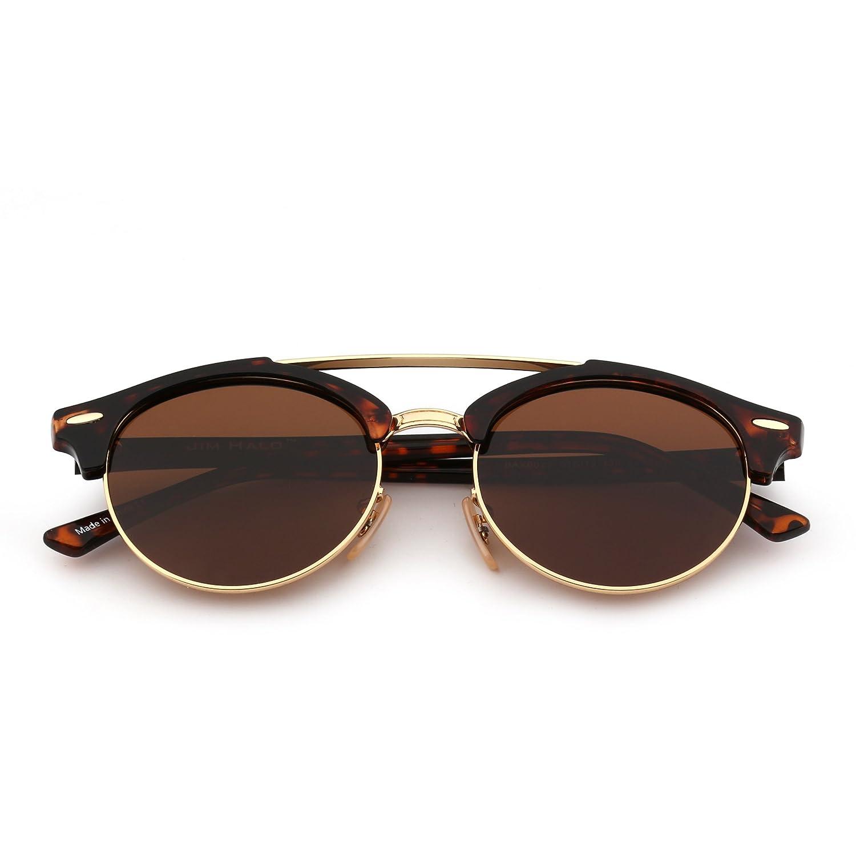 Gafas Sol Clubround Espejo Polarizadas De Marco Redondas Sin Semi XuiTlwkZOP