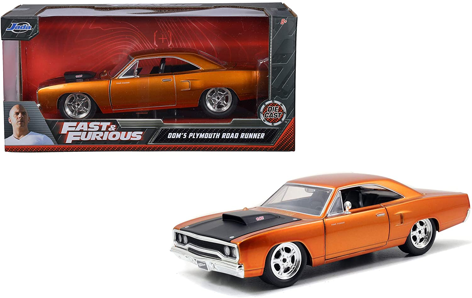 Jada 1970 Plymouth Road Runner Grey Doms Fast /& Furious 1//24 Scale Diecast