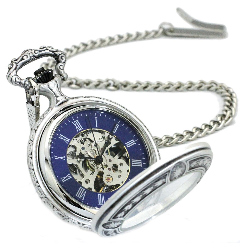 クレファー [CREPHA] ベントレー BENTLEY BTY-4126-BL 手巻き式懐中時計 ブルー B01M2DNHGV