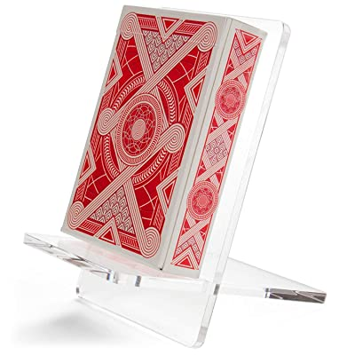 Citadel Collectibles Single Deck Playing Card Display Stand - Acrylic Single Deck Card Stand for Playing Cards, RPG Cards, and Board Game Cards: Sports & Outdoors