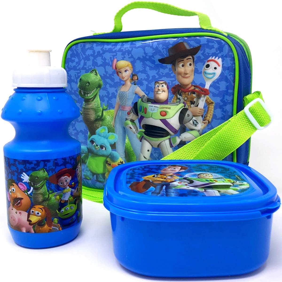 Disney Toy Story 4 Kids Insulated Lunch Bag with Sandwich Box and Drinks Bottle