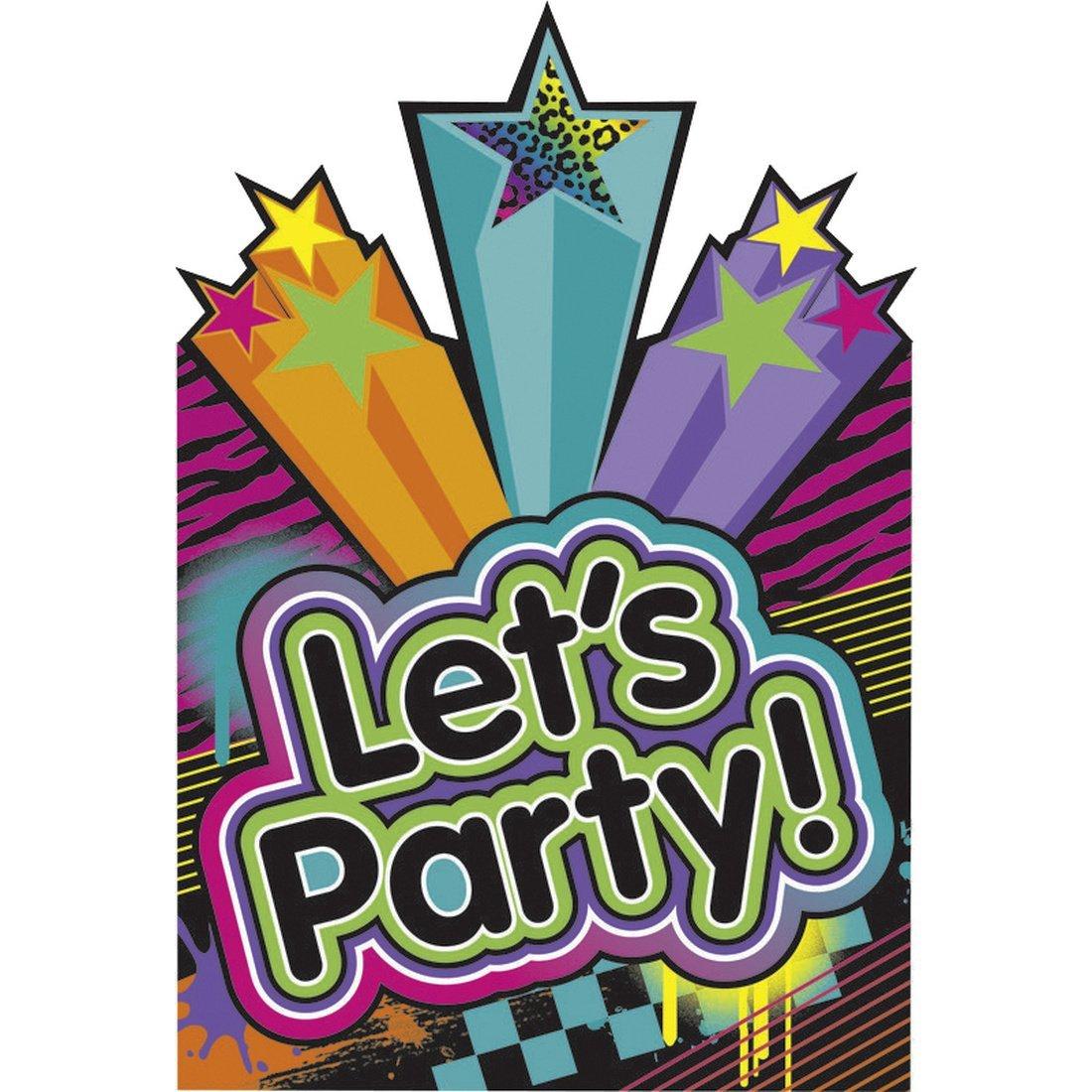 8 Stk. 80`s Party Einladungskarten Mit Umschlägen Geburtstag Einladungs Set  Mottoparty Einladungen 80er Jahre Einladungsset Invitations: Amazon.de: ...