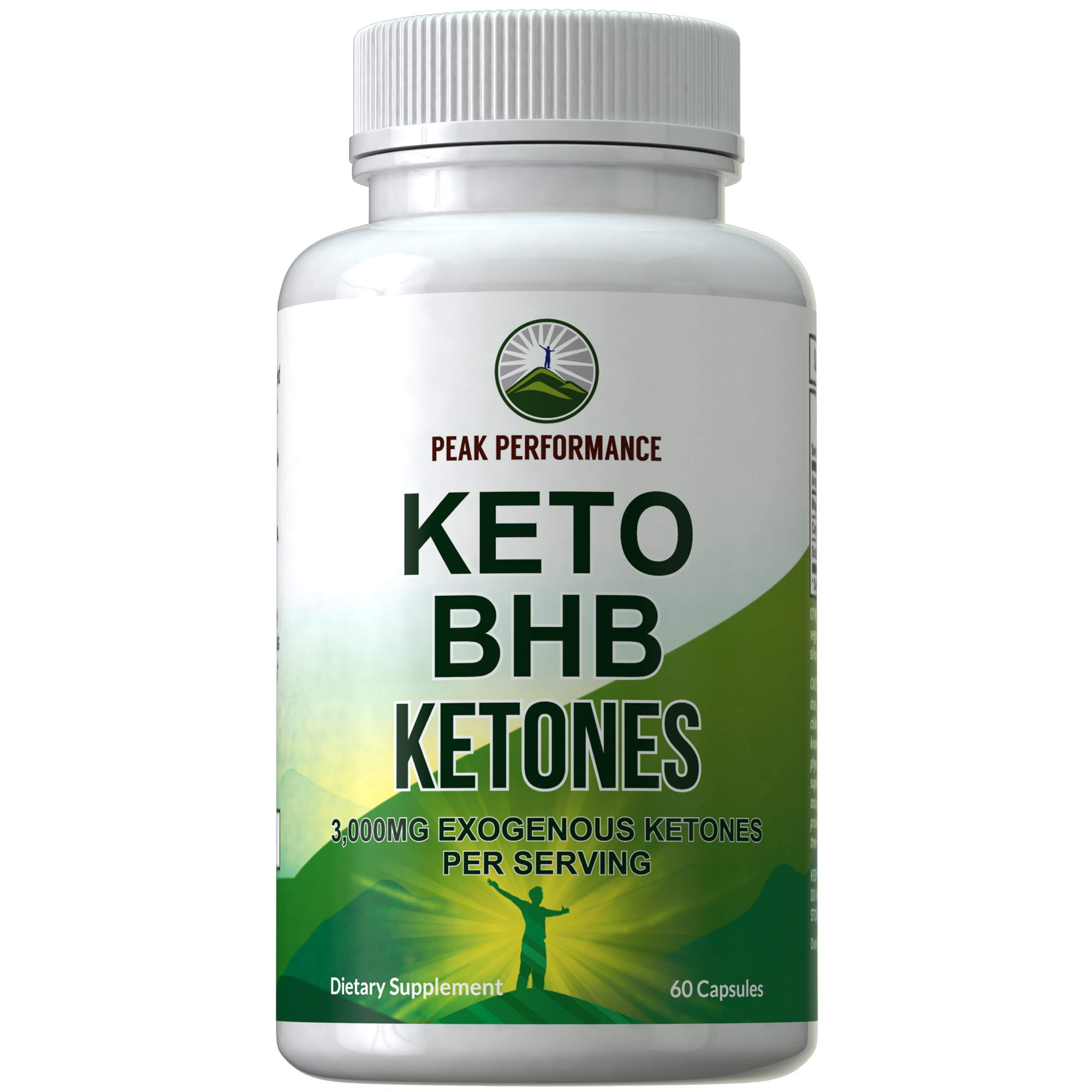 Keto BHB Exogenous Ketones Capsules by Peak Performance. Best Keto Diet Pills - 3000mg Unflavored Exogenous Ketone Salts Supplement. Best 3 Beta Hydroxybutyrate Forms for Maintaining Ketosis by Peak Performance
