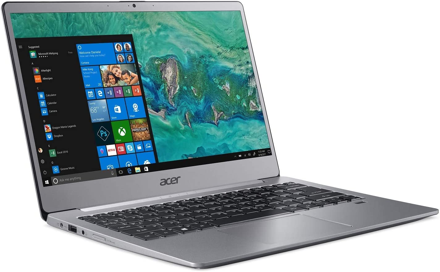 "Acer Swift 3 SF313-51-57EQ Laptop, 14"" Full HD, 8th Gen Intel Core i5-8250U, 8GB DDR4, 256GB PCIe SSD, Back-lit Keyboard, Windows 10"