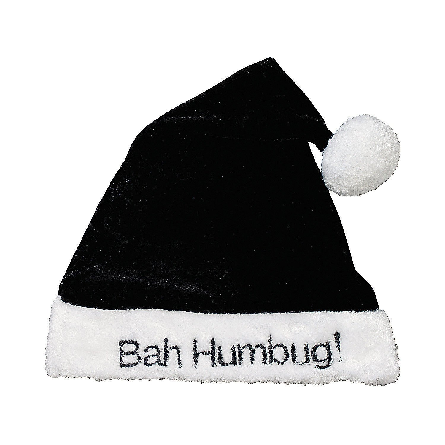 bah humbug santa claus hat sofy velour with plush trim amazon co uk