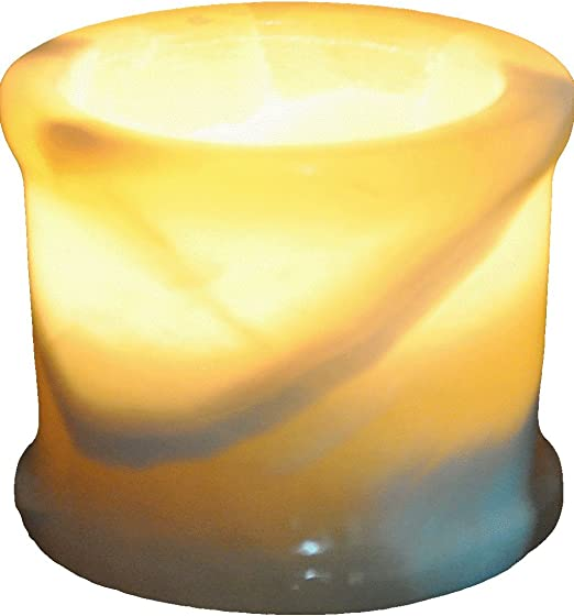 Egyptian Real Alabaster stone marble Candle holder votive