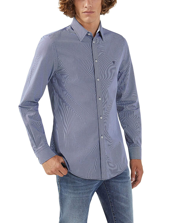 Trussardi Jeans Camicia Quadretti Regular Fit: Amazon.it