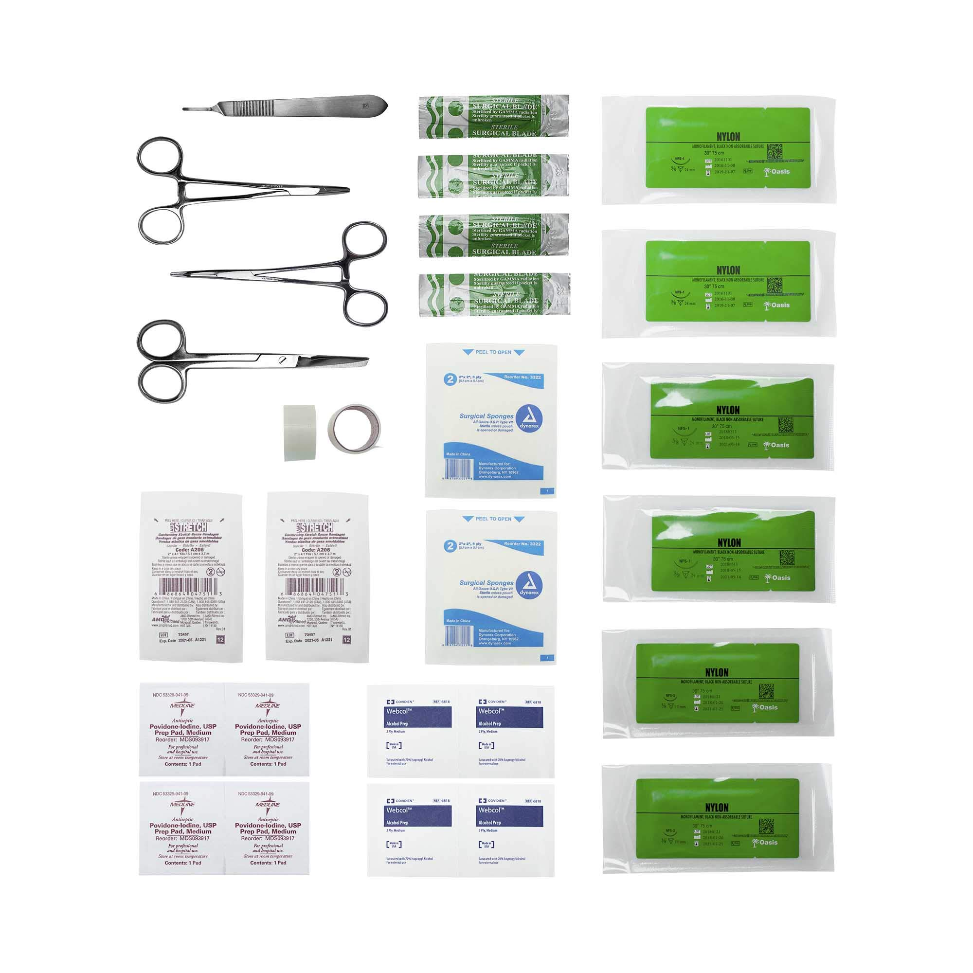 Advanced Surgical Suture First Aid Kit - 31 Piece Survival Kit by Safe Haven Supplies