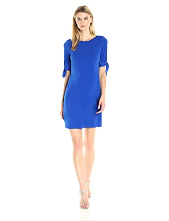 11018fdfc784 Jessica Howard Women's Tie Sleeve Shift Dress at Amazon Women's ...