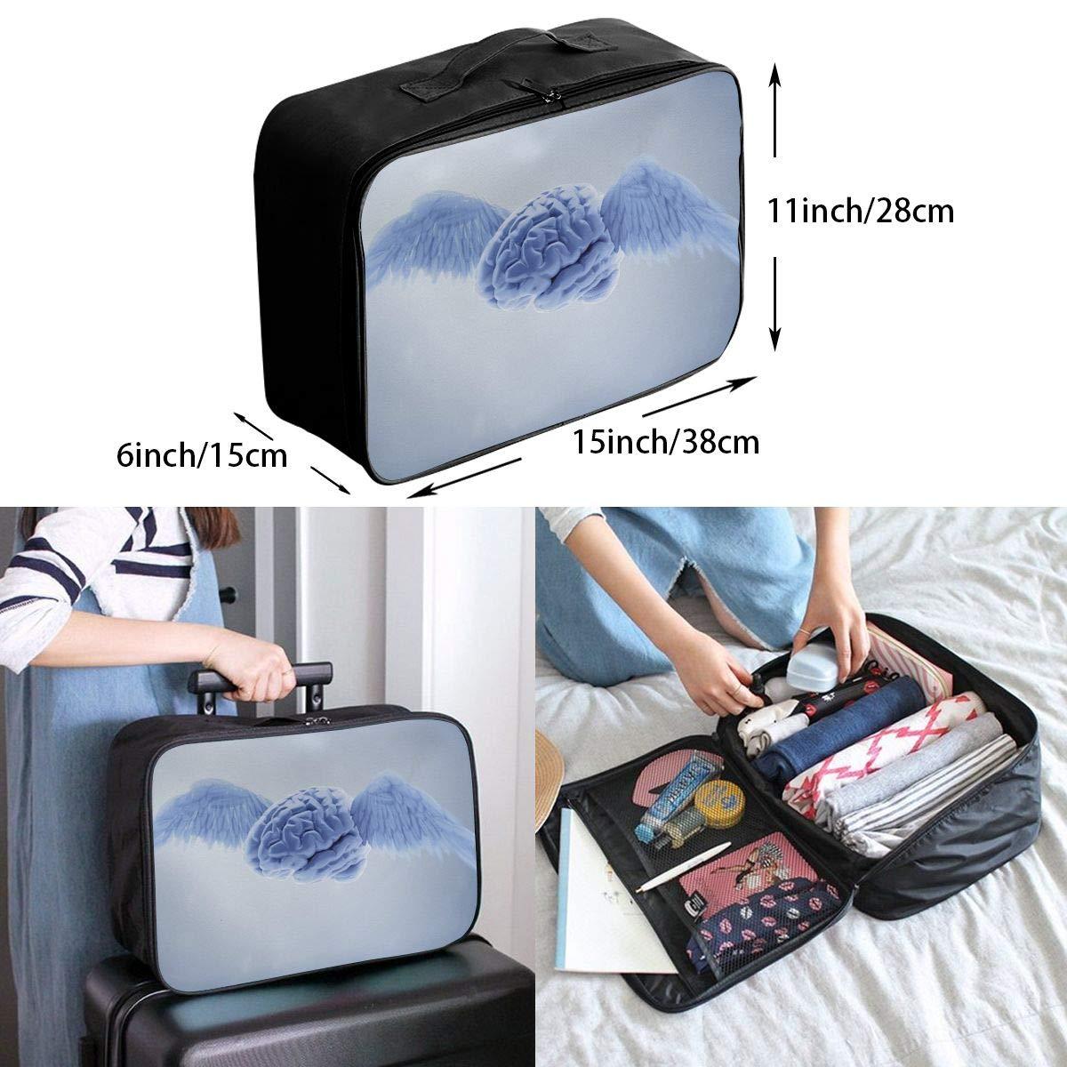 Travel Luggage Duffle Bag Lightweight Portable Handbag Brain With Wings Large Capacity Waterproof Foldable Storage Tote